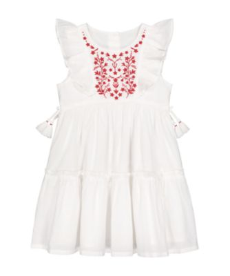 Mothercare Tropical Garden Party Embroideried Frill Woven Dress