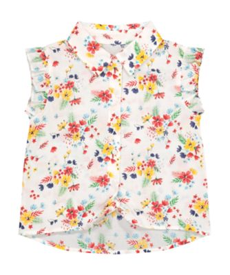 Mothercare Tropical Garden Party Floral Tie Front Shirt