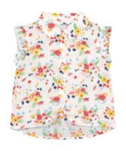 Mothercare Floral Tie Front Blouse