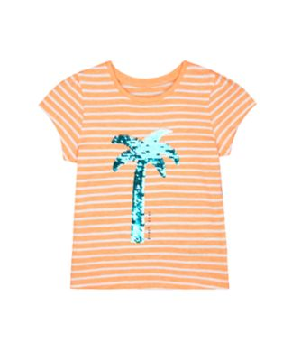 Mothercare Beach Life Stripe Palm Tree Short Sleeve T-Shirt