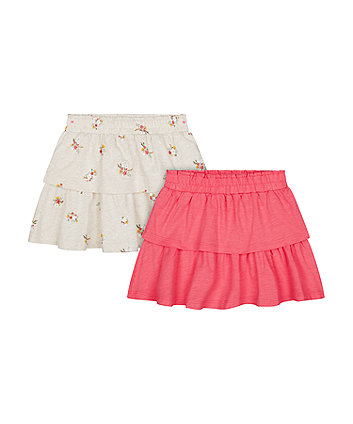 Mothercare Fashion Tiered Skirts - 2 Pack