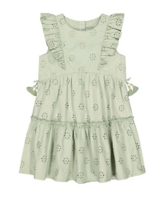 Mothercare Arizona Escape Khaki Broderie Dress
