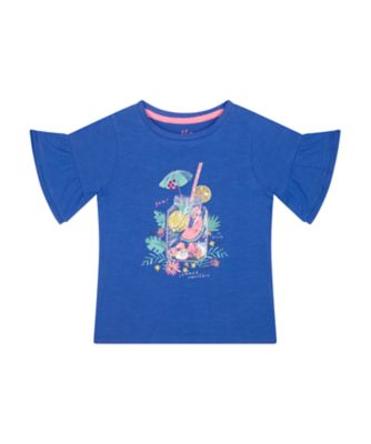 Mothercare Neon Fresh Blue Fruit Short Sleeve T-Shirt