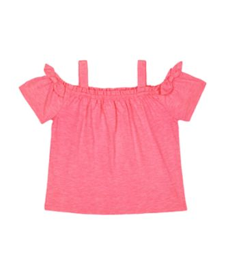 Mothercare Neon Fresh Pink Stripe Frill Jersey Cami Top