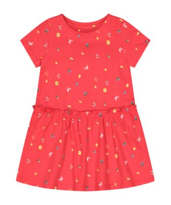 Mothercare Tropical Garden Party Dropwaist Floral Jersy Dress