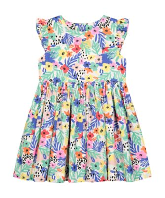 Mothercare Neon Fresh Allover Trip Flower Woven Dress