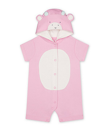 Mothercare Pink Giraffe Novelty Romper