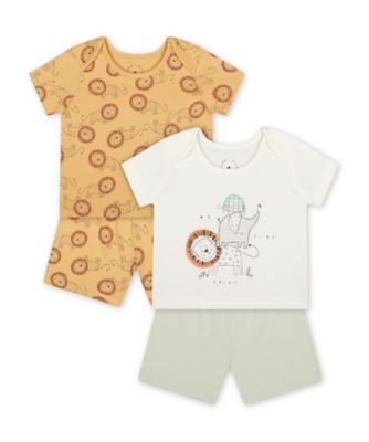 Mothercare Happy Animals Shortie Pyjamas - 2 Pack