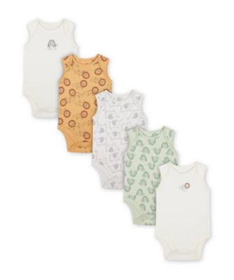 Mothercare Animals Sleeveless Bodysuits - 3 Pack