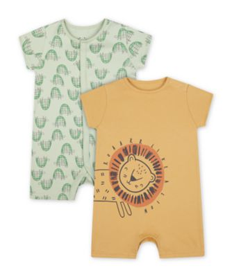 Mothercare Animals Romper - 2 Pack