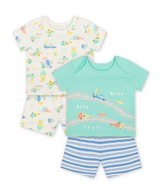 Mothercare Ice Cream Shortie Pyjamas - 2 Pack