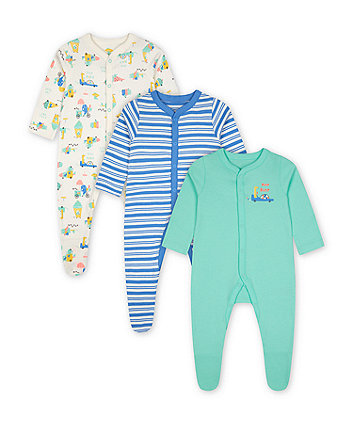 Mothercare Ice Cream Sleepsuits - 3 Pack