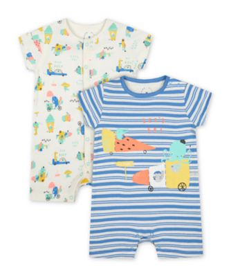 Mothercare Ice Cream Romper - 2 Pack
