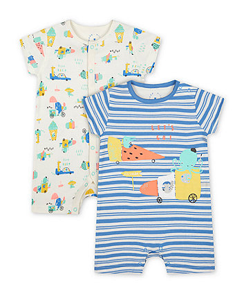 Mothercare Day Dreams Rompers - 2 Pack