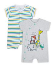 Mothercare Jungle Rompers - 2 Pack