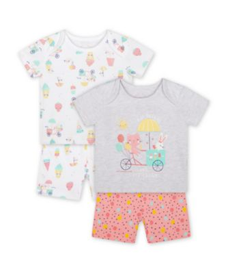 Mothercare Girls Fruit Day Dreams Shortie Pyjamas - 2 Pack
