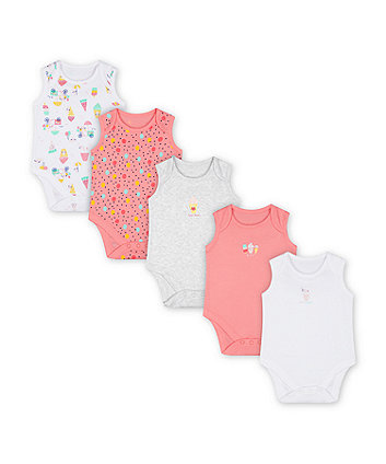 Mothercare Summer Bodysuits - 5 Pack