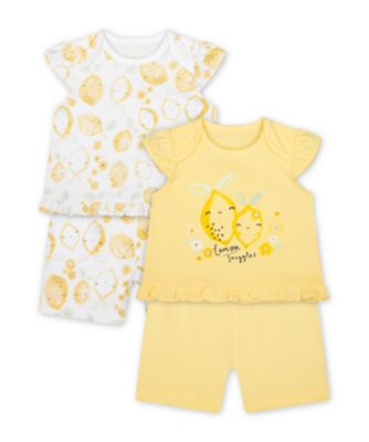 Mothercare Sweet Lemon Snuggles Shortie Pyjamas