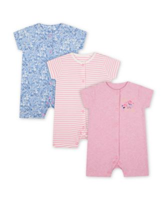 Mothercare Butterfly And Floral Rompers - 3 Pack
