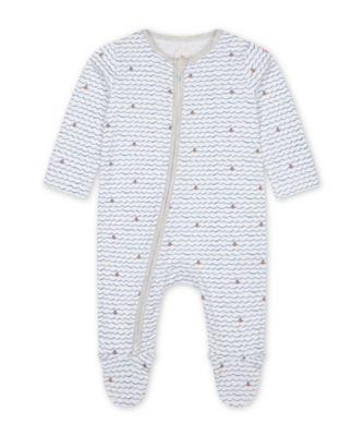 Mothercare Little Captain Zip Sleepsuits