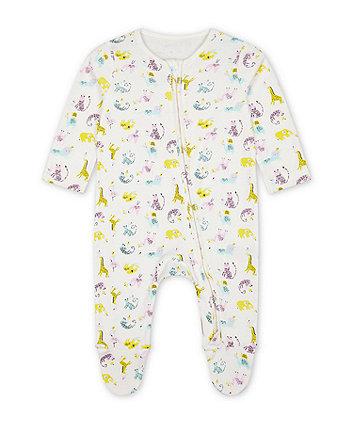 Mothercare Little Safari Sleepsuit