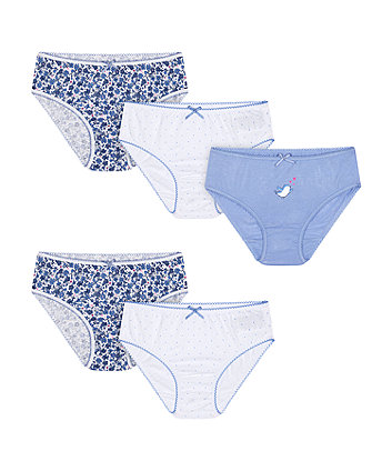 Mothercare Ditsy Floral Briefs - 5 Pack