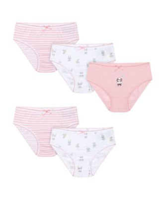 Mothercare Pink Panda Briefs - 5 Pack