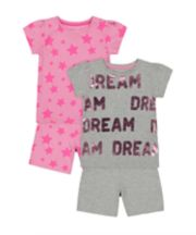 Mothercare Dream Star Shortie Pyjamas - 2 Pack