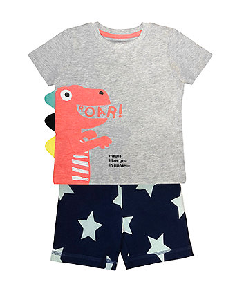 Mothercare Fashion Boys Dino Roar Set