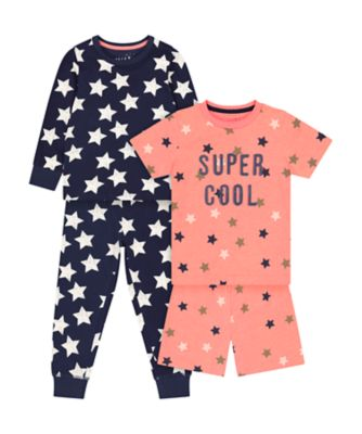 Mothercare Star Mixed Shortie And Pyjamas