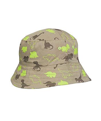 Mothercare Khaki Dinosaur Fisherman Hat