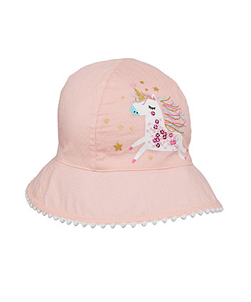 Mothercare Pink Unicorn Sun Hat