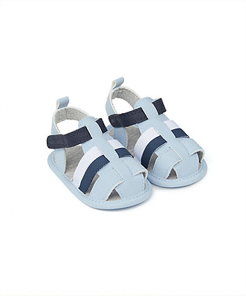 Mothercare Blue Colour-Block Baby Sandals