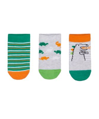 Mothercare Boys Dinosaur Trainer Liner Sock