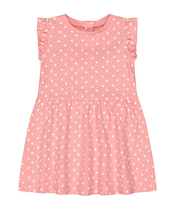 Mothercare Pink Star Jersey Dress