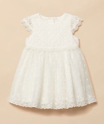Mothercare Special Collection White Lace And Mesh Occasion Dress