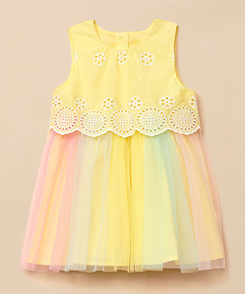 Mothercare Broderie Twofer Occasion Dress