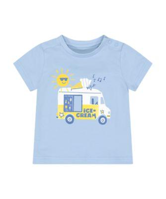 Mothercare Navy Pop Ice-Cream Van Uber Short Sleeve T-Shirt