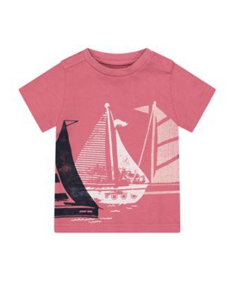 Mothercare Sailing Camp Red Boat Short Sleeve T-Shirt