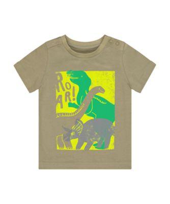 Mothercare Go Croco Khaki Dinosaurs Short Sleeve T-Shirt
