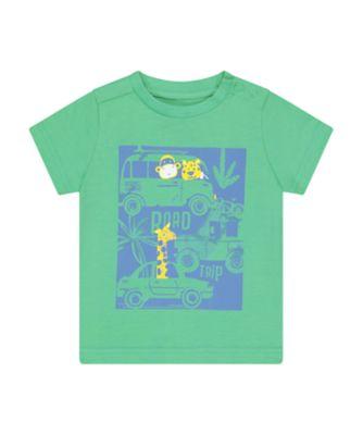 Mothercare Desert Vibes Green Road Trip Short Sleeve T-Shirt