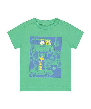 Mothercare Fashion Green Road Trip T-Shirt