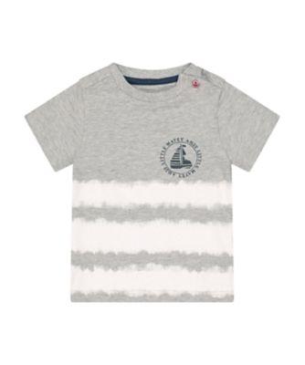 Mothercare Sailing Camp Grey Little Matey Short Sleeve T-Shirt