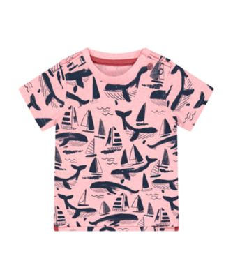 Mothercare Sailing Camp Pink Whale Short Sleeve T-Shirt