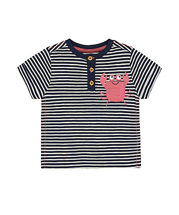 Mothercare Striped Crab T-Shirt