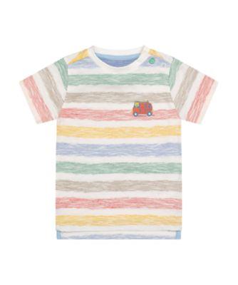 Mothercare Desert Vibes Reverse Stripe Short Sleeve T-Shirt