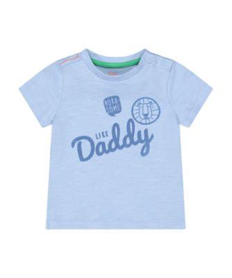 Mothercare Desert Vibes Blue Lion Face Dad Short Sleeve T-Shirt