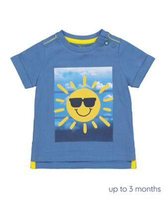 Mothercare Navy Pop Sun Sequin Short Sleeve T-Shirt