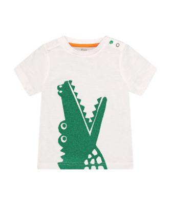 Mothercare Go Croco Glitter Crocodile Short Sleeve T-Shirt