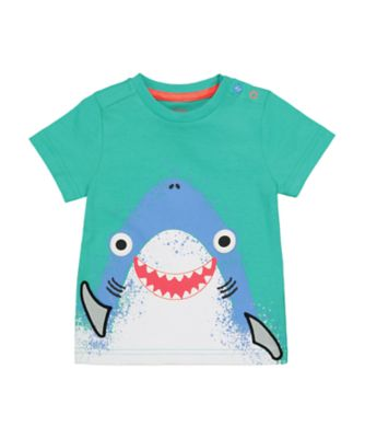 Mothercare Beach Life Shark Lift-The-Flap Short Sleeve T-Shirt